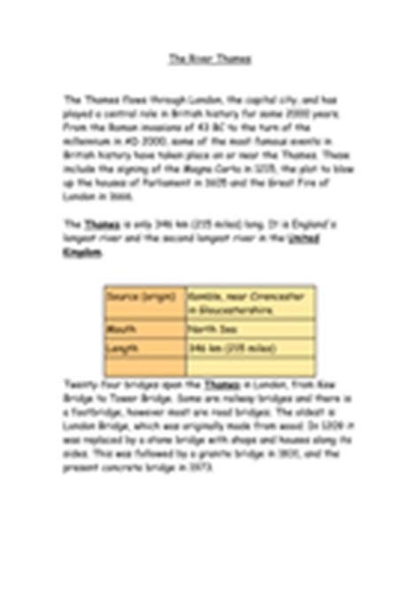 river thames map worksheet resources based on river thames by jomax766 uk teaching