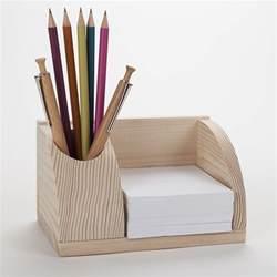 petit organisateur de bureau en bois porte cartes et