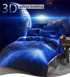 Space Bed bedding set universe outer space themed galaxy print bedlinen bed
