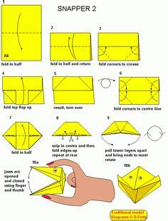 Origami Snapper - 1000 images about beaver scout crafts on