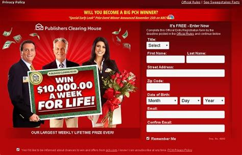 Publishers Clearing House Forever Prize - win 5000 a week forever in the pch sweepstakes the share the knownledge