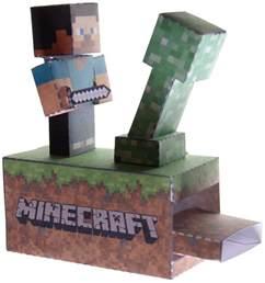 Minecraft Papercraft Set - papercraftsquare new paper craft minecraft machine