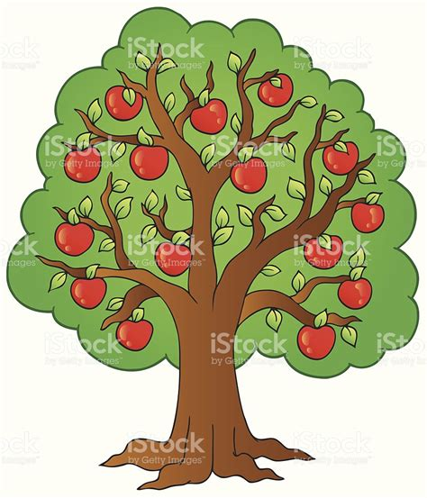 imagenes animadas arbol 193 rbol de dibujos animados de apple arte vectorial de