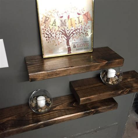 woodland home decor floating shelf wall shelf rustic reclaimed wood floating home decor