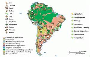 south america agriculture map grolier atlas