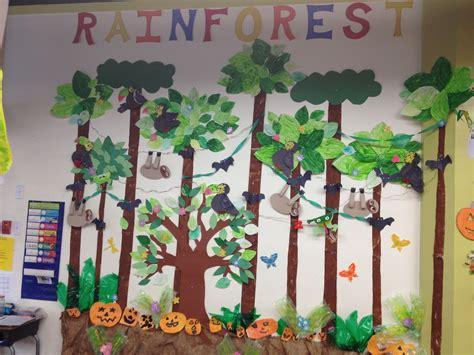 Forest Scene Wall Mural rainforest classroom mural drama play rainforest