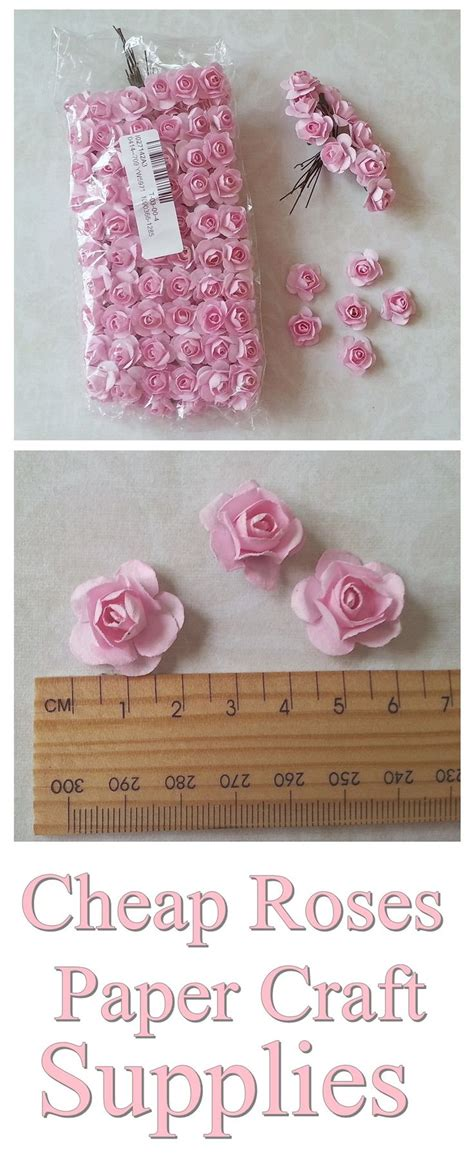 cheap paper flowers shabby chic roses embellishment for card making scrapbooking cheap craft