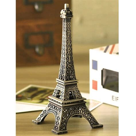 eiffel tower home decor vintage alloy model decor home office decorations 22cm