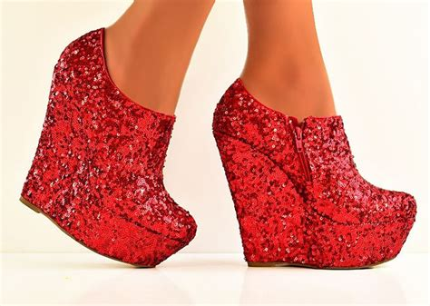 Boot Wedges Gliter Silekat 453 best images about wedges on peep toe