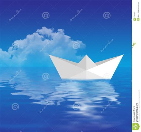 How To Make A Floating Paper Boat - paper boat floating royalty free stock images image 2346969
