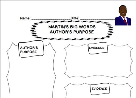printable graphic organizer for author s purpose author s purpose graphic organizer rev dr mlk holiday
