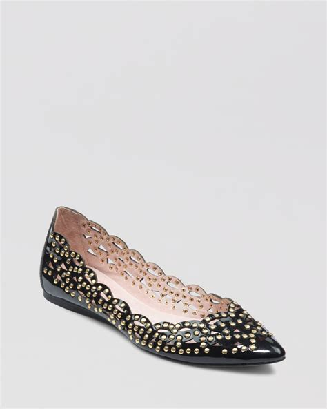 vince camuto shoes flats vince camuto pointed toe ballet flats tamma studded in