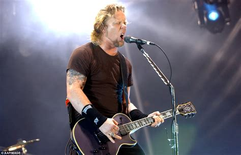 metallica lead singer the big day out music festival cancelled daily mail online