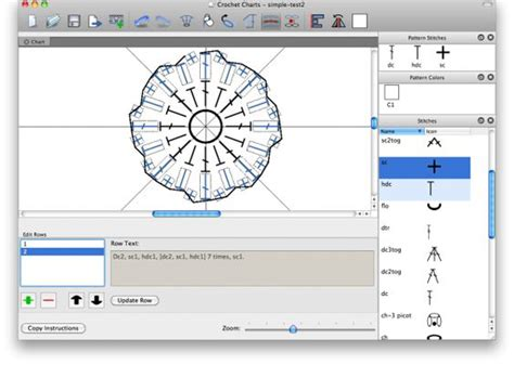 graph maker program software stitches and crochet on