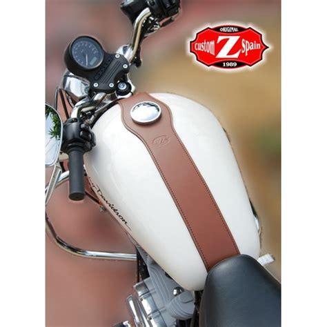W20 Brown Simple Harley Davidson basic brown leather tank panel harley davidson sportster