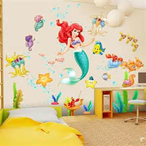 ariel wall decal swinging decals and personalised girls little mermaid disney princess