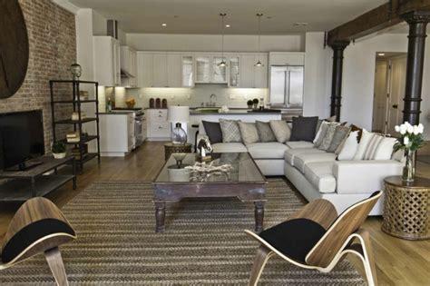 Charmant Idee Petite Salle De Bain #8: Le-meuble-tv-style-industriel-salle-de-séjour-idée-salon-industrie-télé-aménagement.jpg