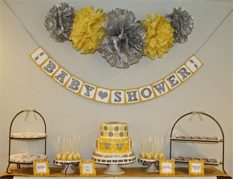 Yellow Gray And White Baby Shower by Gray Yellow Baby Shower Yellow And Grey Baby Shower
