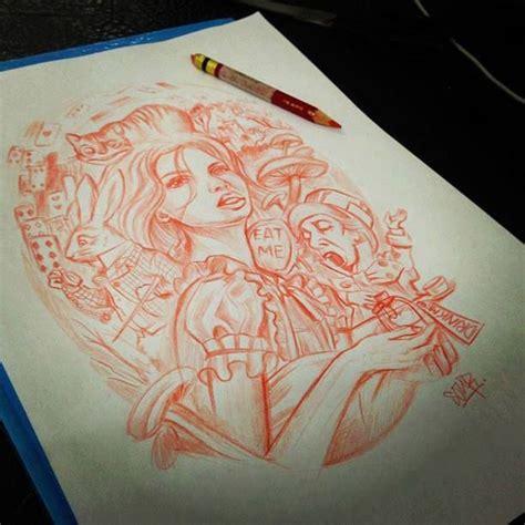 chest tattoo alice in wonderland alice in wonderland girl tattoo jeremy dahlfors grapes