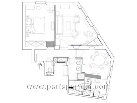 eiffel tower floor plan 1 bedroom eiffel tower apartment great alternative to