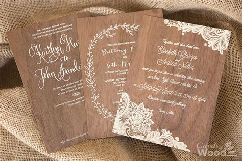 Wedding Invitations With Woods Themes by Wonderful Wood Wedding Invitations Theruntime