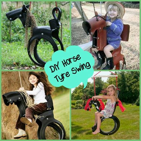 diy horse tire swing horse tyre swing idea s for little people pinterest
