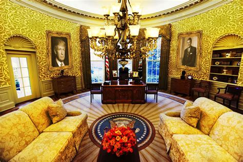 trump oval office renovation this white house makeover for president trump is tasteful