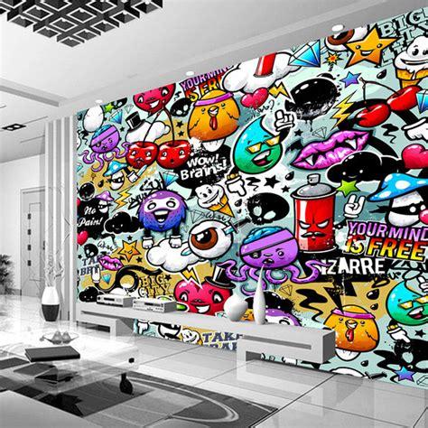 Custom Wall Murals Cheap popular graffiti wallpaper mural buy cheap graffiti