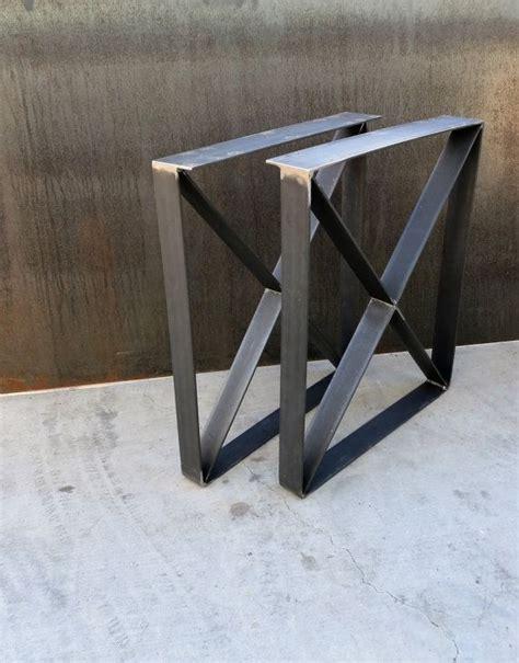 U Shaped Bar Table Metal Table Legs Flat Bar U Shape With X Brace