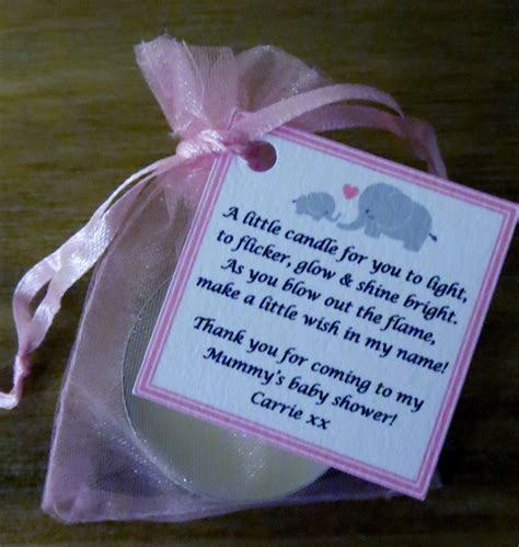 Baby Shower Favoura by Baby Shower Candle Favours With Vanilla Scented Tealights