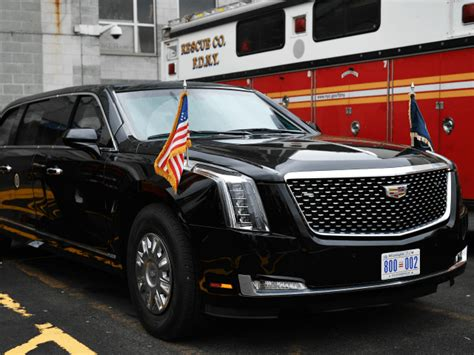 new limo donald unveils new beast presidential limousine in