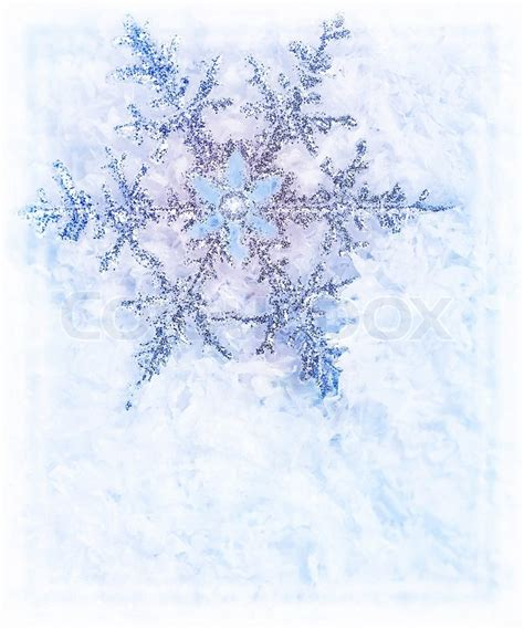 snowflake blue background beautiful cold frozen snow