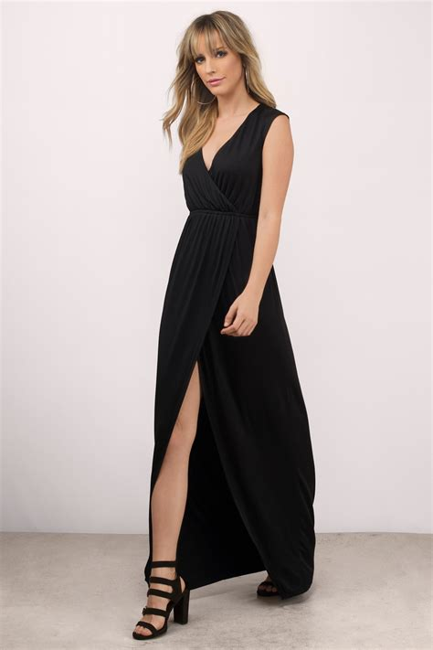 Dress Slit mauve maxi dress high slit dress maxi dress tobi