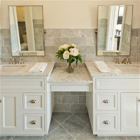 sink vanity with make up area bathroom