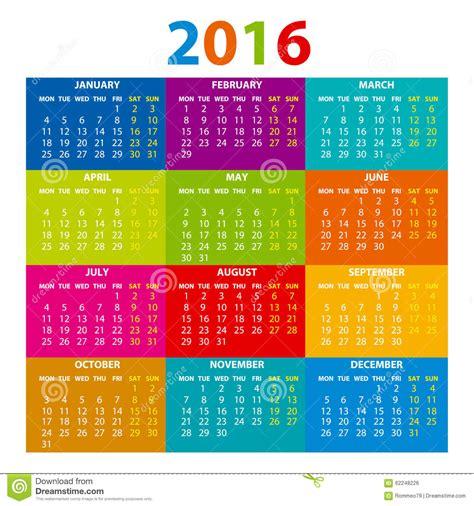 delaware design lab calendar 2016 calendar illustration vector color design stock
