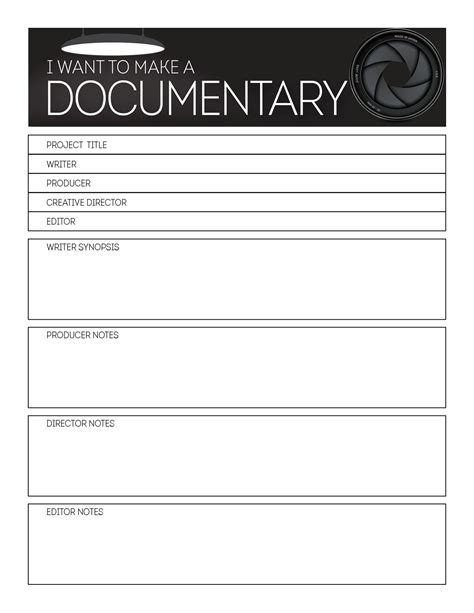 Storyboard Cover Template Documentary Resources Cover Template Templates Storyboard Documentary Template