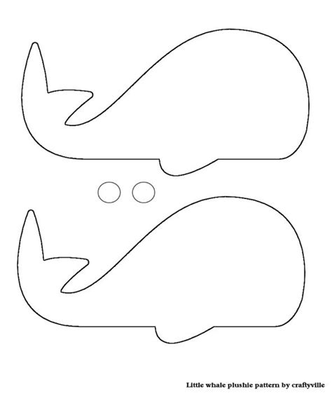 whale template whale craft template images