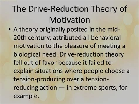 drive reduction drive reduction theory