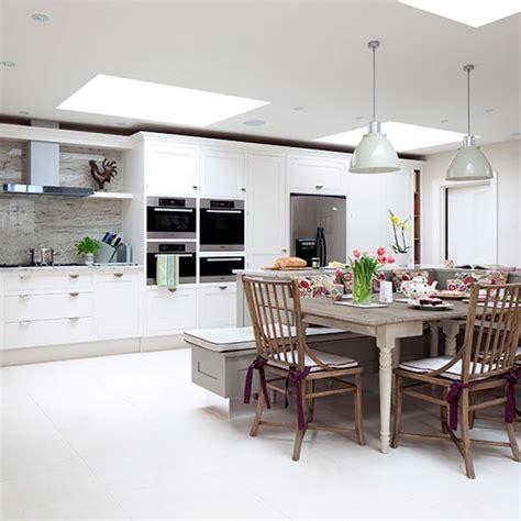 open plan neutral kitchen kitchen diners housetohome co uk large open plan white kitchen diner kitchen decorating
