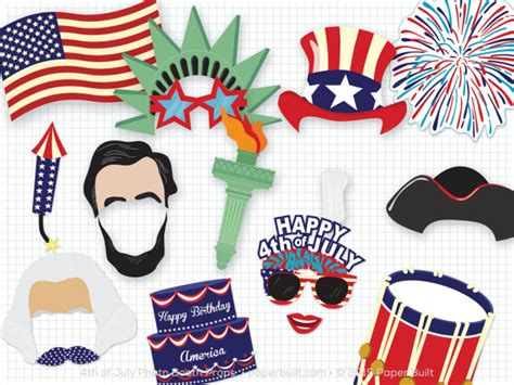 printable photo booth props 4th of july printable 4th of july photo booth props photobooth props