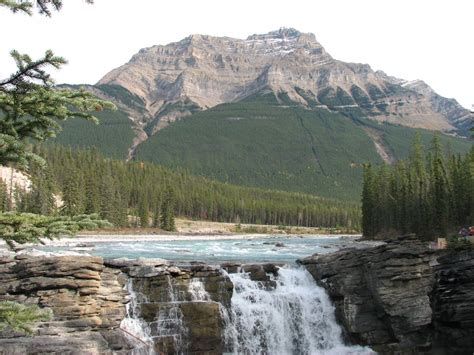 athabasca falls images natural beauty  canada xcitefunnet