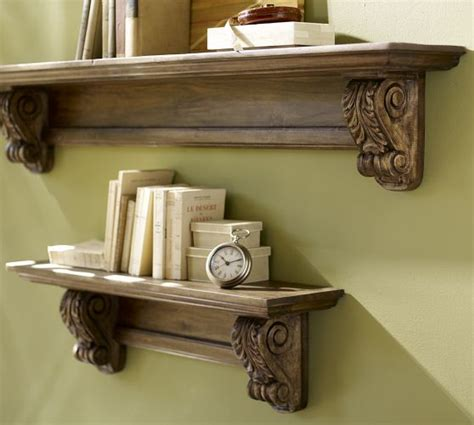 pottery barn shelves architectural shelf pottery barn my style