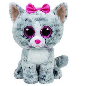 beanie boos kiki grey cat medium toys toyworld