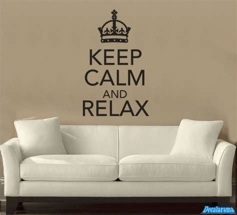 Nursery Wall Stickers Uk keep calm and relax wall art sticker ideal for bedrooms