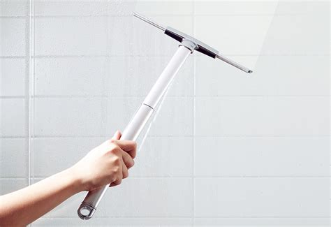 Best Squeegee For Shower Doors by Extendable Shower Squeegee Sharper Image