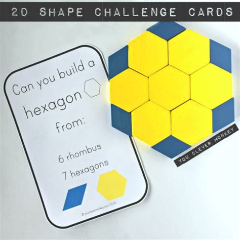shape using pattern blocks 2d shape pattern block challenge cards shape children