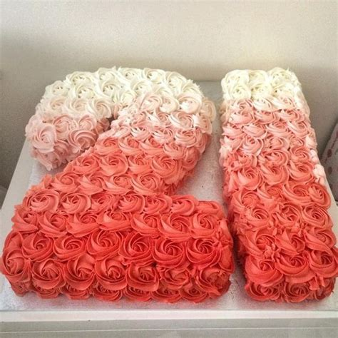 Is Beautiful 21 beautiful coral ombr 233 21st birthday cake birthday ideas