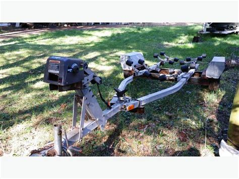 electric boat trailer winch highlander boat trailer w electric winch 16 quot 19 5 quot west