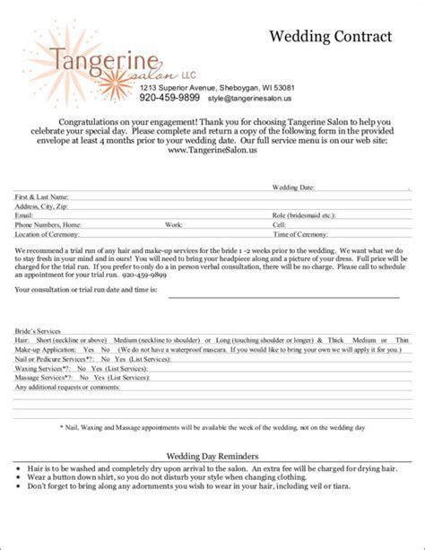 sle wedding photography contract template wedding hair and makeup contract template style guru