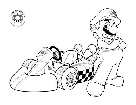 Mario Kart Wii Coloring Pages tmk